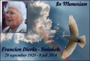In Memoriam Mevr. Dierks